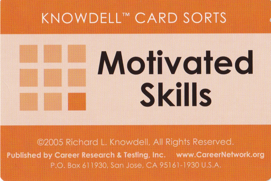 Knowdell Motivated Skills Card Sorts